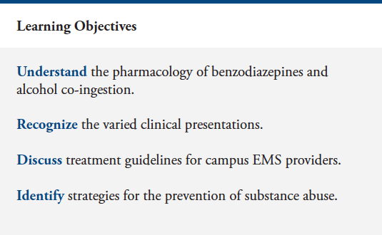 Benzodiazepine & Alcohol Co-Ingestion | The Journal of